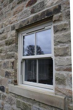Light grey sash window
