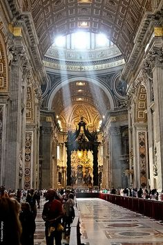 The Vatican. Number one place on my dream travel list. Stunning on TV, can't wait to see it in person one day.