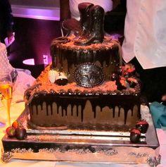 amazing cowboy groom's cake