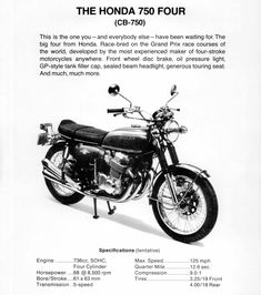 1969_HONDA CB750Four K0 with prototype brochure.CANADA_01