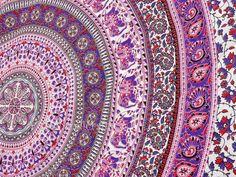 Pink Elephant Mandala Tapestries Mandala by VishalHandicrafts