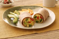 California Avocado Breakfast Burrito - wrapped up and ready to go!