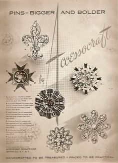 1955 Accessocraft 'Pins - Bigger and Bolder'