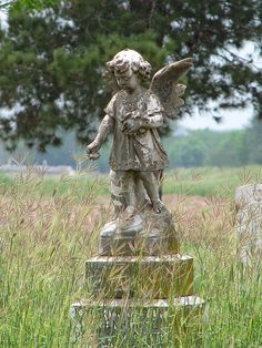 Forgotten Cemetery Angel in Batesville,Texas