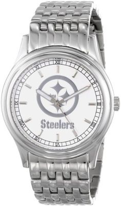 Men's Wrist Watches - NFL Mens FRPIT President Series Pittsburgh Steelers Watch -- Want to know more, click on the image.