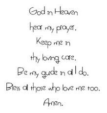Image result for very short rhyming prayers for toddlers