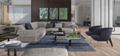 """A contemporary-style tribute to Natuzzi tradition. Its soft, voluminous design and rounded appearance evoke the """"visual comfort"""" that characterized. Italian Furniture Brands, Luxury Furniture, Outdoor Furniture Sets, Furniture Design, Visual Comfort, Contemporary Style, Interior Architecture, Love Seat, Home Decor"""