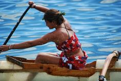 Rowing competition, Heiva I Tahiti, French Polynesia