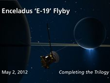 NASA's Cassini spacecraft will be making a close flyby of Saturn's icy moon Enceladus on May 2.