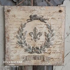 Shabby Vintage, Vintage Decor, Vintage Furniture, Vintage Style, French Country Wall Decor, Diy Crafts Vintage, Clay Wall Art, Decopage, Picture Frame Decor