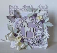 Pojjo's Gallery with Layouts, Projects and Photos. Horse Cards, Shabby Chic Cards, Scrapbook Cards, Scrapbooking, Creative Cards, Flower Cards, Baby Cards, Vintage Cards, Card Templates