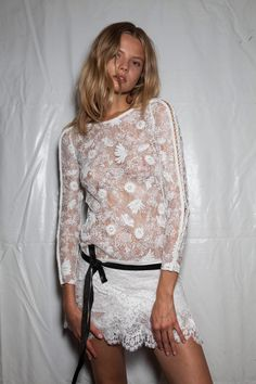 Isabel Marant at Paris Fashion Week Spring 2014 - Backstage Runway Photos