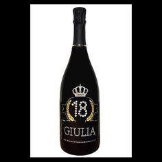 Imperiale Magnum personalizzata con età e nome del festeggiato. Prosecco De Faveri 1,5 litri.