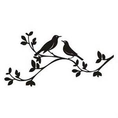 birds on a branch silhouette - Yahoo Image Search Results