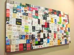 How to make Matchbook Art. Great way to display your matchbook collection and remember all the places you've been.