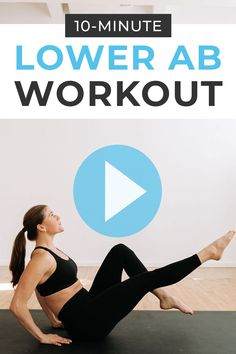 Tone your lower belly pooch with this home workout video - The Best Lower Ab Workout For Women! 10 bodyweight, lower abs exercises to do post-baby Arm And Leg Workout, Lower Ab Workout For Women, Flat Tummy Workout, Home Workout Videos, Abs Workout Video, Best Lower Ab Exercises, Lower Belly Pooch, Daily Exercise Routines, How To Get Abs