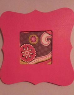Pink painted frame with fabric