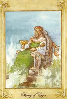 Llewellyn Tarot (by Anna-Marie Ferguson): King of Cups Tarot Card Decks, Tarot Cards, Tarot Card Predictions, Hermetic Tarot, King Of Cups, Free Tarot Reading, Oracle Tarot, Tarot Card Meanings, Cup Art