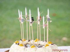 velas de cumpleaños decoradas. Mimosorum