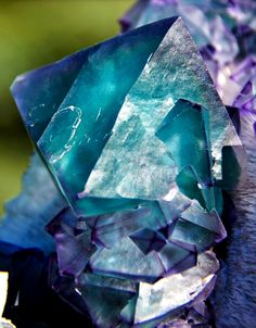 Fluorite - Jiangxi, China Minerals And Gemstones, Crystals Minerals, Rocks And Minerals, Stones And Crystals, Natural Gemstones, Gem Stones, Crystal Grid, Clear Crystal, Mineral Stone