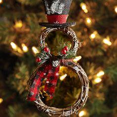 Vine Rings Snowman Ornament   Pier 1 Imports 2015