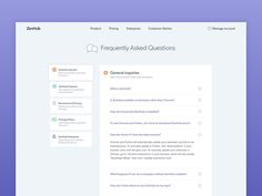 ZenHub FAQ designed by StefΔno Tirloni for Axiom Zen. Connect with them on Dribbble; Layout Site, Website Layout, Web Layout, Ui Web, Responsive Web Design, Dot Website, Website Designs, Zendesk Help Center, Text Web