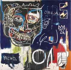 Jean-Michel Basquiat, Untitled (Pecho-Oreja), 1982-83  (sold at Sotheby's in 2013 for $10,666,951)