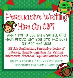 Check out this Christmas persuasive writing activity with graphic organizer, anchor chart, and fun writing assignment! Finding Christmas activities for older elementary students can be very difficult! Persuasive Letter, Procedural Writing, Paragraph Writing, Christmas Essay, Christmas Writing, Grinch Christmas, Magical Christmas, Classroom Language, Classroom Fun