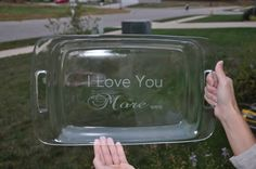 Personalized Etched Pyrex 9 x 13 Casserole by TheFunkyPolkaDot, $33.00