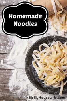 Homemade Egg Noodles | Hillbilly Housewife. These noodles are so easy to make and very tasty.