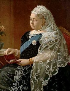 Queen Victoria with picture of Albert