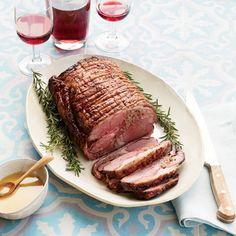 Lamb Roast with Mustard Pan Sauce