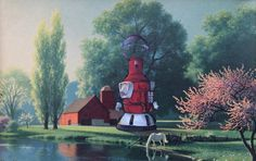 Mystery Science Theater 3000 Painting, 'The 4th Wall' - Repurposed Thrift Art - Limited Edition Print or Poster