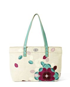 Fossil Hunter Flower Tote Bag -