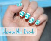 5 Sheets of 44 Chevron Nail Decals (You Pick the Colors) Now in Neon Colors
