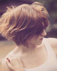 Messy Short Bob Hair Cut - Stylish Short Hairstyle Designs 2016