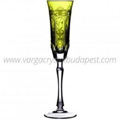 Imperial Yellow-Green Flute 228€ Whiskey Decanter, Luxury Candles, Flute, Budapest, Candle Holders, Things To Come, Collections, Traditional, Crystals