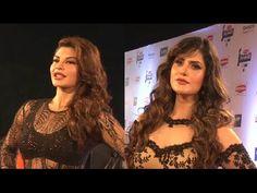 Zarine Khan & Jacqueline Fernandez at Filmfare Awards 2016.