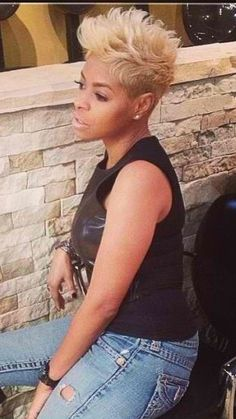 Pixie Cut by Turah Short Sassy Hair, Cute Hairstyles For Short Hair, Pretty Hairstyles, Short Hair Cuts, Short Hair Styles, Pixie Cuts, Black Hairstyles, Love Hair, Great Hair