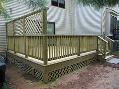 planter box privacy screen | Pressure Treated Deck for Townhouse in Hillsborough New Jersey