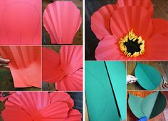 DIY Giant Paper Flowers PHOTO SOURCE • THE HOUSE THAT LARS BUILT