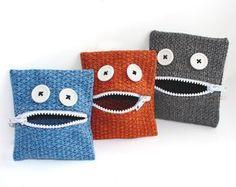 Geldbörsen & Portemonnaies - Kindergeldbeutel Monsterchen - ein Designerstück von Dornroeschen-alteStoffewachgekuesst bei DaWanda