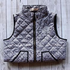 Monogrammed Quilted Herringbone Vest Herringbone Vest, Preppy Style, Sweater Weather, Monograms, Going Out, Personalized Gifts, Your Style, Casual Outfits, Warm