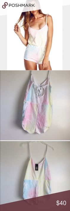 WILDFOX TIE DYE ROMPER SZ S NEW WILDFOX TIE DYE AUTHENTIC ROMPER SZ S NEW item #150 Wildfox Shorts