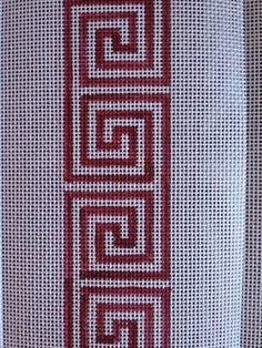 Embroidery Motifs, Cross Stitch Embroidery, Decorative Borders, Greek Key, Plastic Canvas, Needlepoint, Needlework, Stencils, Mosaic
