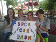 jrSPCA Car Wash at Bruster's Ice Cream 2013