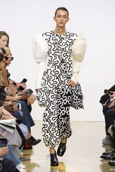 From ponies to prints to puffed out courture, see our favorite wildest moments from London Fashion Week. JW Anderson's Keith Haring Prints: