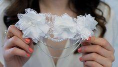 SALE/// Lace Headpiece Swarovski Crystals Wedding Headband Bridal Haircomb on Etsy, £35.08