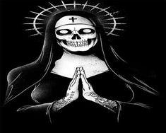 Illustration - illustration - Estampa rock freira caveira illustration : – Picture : – Description Estampa rock freira caveira -Read More – Arte Horror, Horror Art, Satanic Art, Art Manga, Arte Obscura, Occult Art, Creepy Art, Skull And Bones, Tattoo Ideas