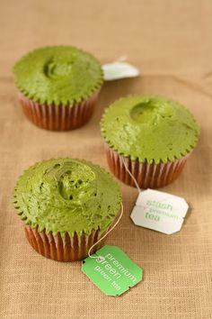Green tea cupcakes.